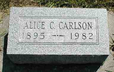 CARLSON, ALICE C. - Boone County, Iowa | ALICE C. CARLSON