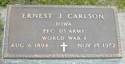 CARLSON, ERNEST J. - Boone County, Iowa | ERNEST J. CARLSON