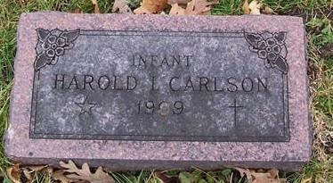 CARLSON, HAROLD I. INFANT - Boone County, Iowa | HAROLD I. INFANT CARLSON
