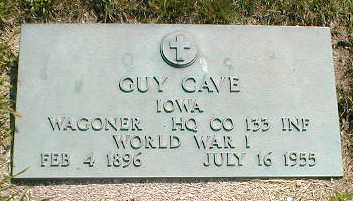 CAVE, GUY - Boone County, Iowa   GUY CAVE