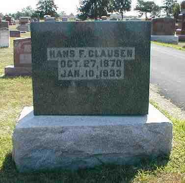 CLAUSEN, HANS F. - Boone County, Iowa | HANS F. CLAUSEN