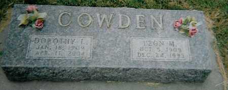COWDEN, DOROTHY L. - Boone County, Iowa | DOROTHY L. COWDEN