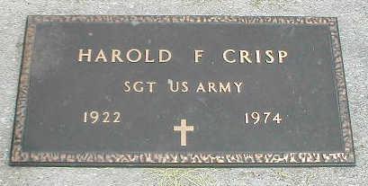 CRISP, HAROLD F. - Boone County, Iowa | HAROLD F. CRISP