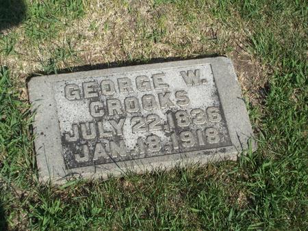 CROOKS, GEORGE W. - Boone County, Iowa   GEORGE W. CROOKS