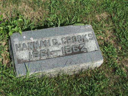 CROOKS, HANNAH C. - Boone County, Iowa | HANNAH C. CROOKS