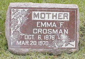 CROSMAN, EMMA F. - Boone County, Iowa   EMMA F. CROSMAN