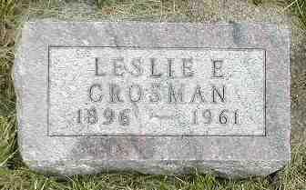CROSMAN, LESLIE E. - Boone County, Iowa   LESLIE E. CROSMAN