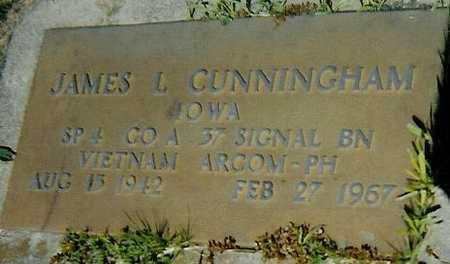 CUNNINGHAM, JAMES L. - Boone County, Iowa   JAMES L. CUNNINGHAM