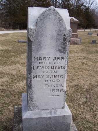 DAVIS, MARY ANN - Boone County, Iowa | MARY ANN DAVIS