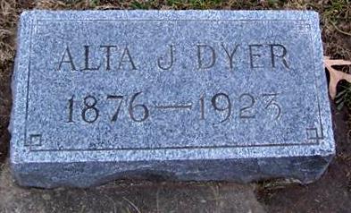 DYER, ALTA J. - Boone County, Iowa   ALTA J. DYER