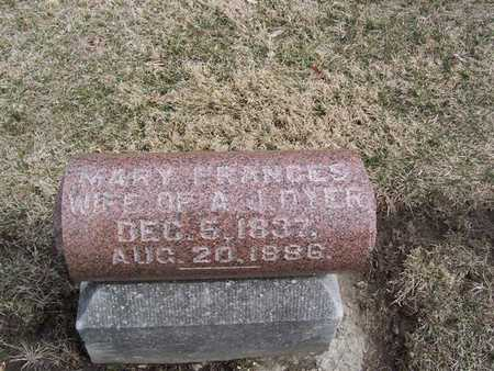 DYER, MARY FRANCES - Boone County, Iowa | MARY FRANCES DYER
