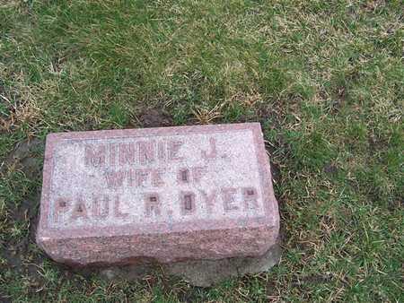 DYER, MINNIE J. - Boone County, Iowa   MINNIE J. DYER