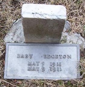 EDGETON, BABY - Boone County, Iowa   BABY EDGETON
