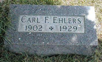 EHLERS, CARL F. - Boone County, Iowa | CARL F. EHLERS