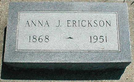 ERICKSON, ANNA J. - Boone County, Iowa   ANNA J. ERICKSON