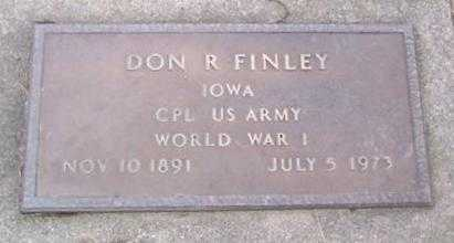 FINLEY, DON R. - Boone County, Iowa   DON R. FINLEY