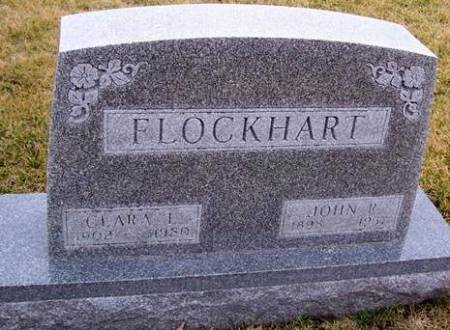 FLOCKHART, CLARA L. - Boone County, Iowa   CLARA L. FLOCKHART