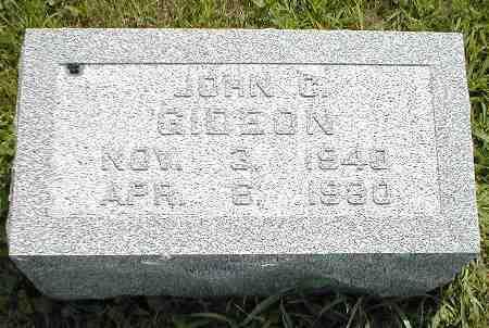 GIDEON, JOHN C. - Boone County, Iowa | JOHN C. GIDEON