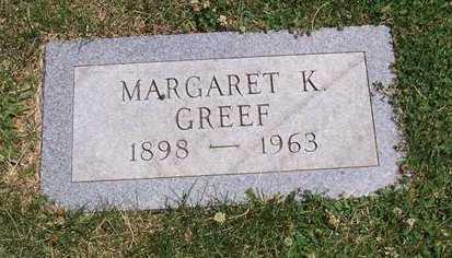 GREEF, MARGARET K. - Boone County, Iowa | MARGARET K. GREEF