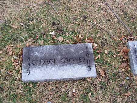GRONER, GEORGE - Boone County, Iowa | GEORGE GRONER