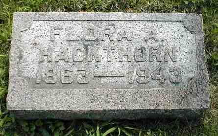HACKTHORN, FLORA A. - Boone County, Iowa   FLORA A. HACKTHORN