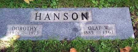 HANSON, OLAF W. - Boone County, Iowa   OLAF W. HANSON