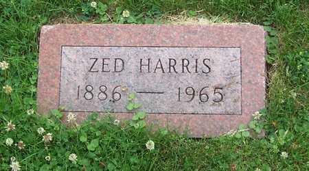 HARRIS, ZED - Boone County, Iowa   ZED HARRIS