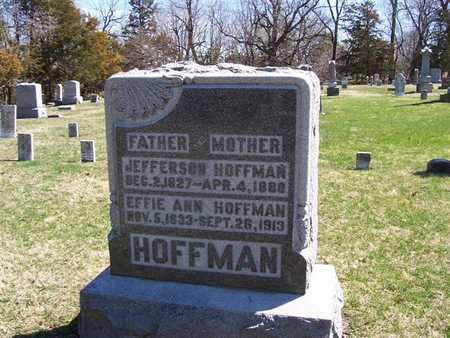 HOFFMAN, JEFFERSON - Boone County, Iowa   JEFFERSON HOFFMAN