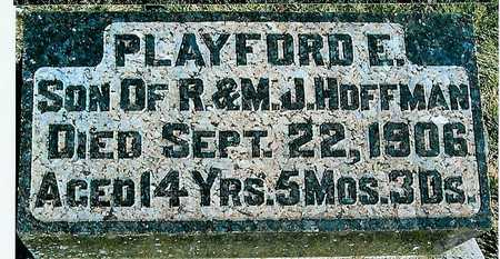 HOFFMAN, PLAYFORD E. - Boone County, Iowa | PLAYFORD E. HOFFMAN