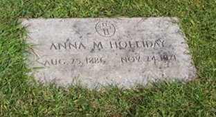 HOLLIDAY, ANNA M. - Boone County, Iowa   ANNA M. HOLLIDAY