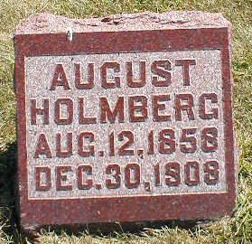 HOLMBERG, AUGUST - Boone County, Iowa   AUGUST HOLMBERG