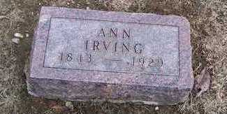 IRVING, ANN - Boone County, Iowa | ANN IRVING