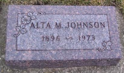 JOHNSON, ALTA M. - Boone County, Iowa | ALTA M. JOHNSON