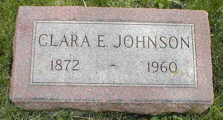 JOHNSON, CLARA E. - Boone County, Iowa   CLARA E. JOHNSON