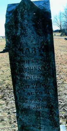 JOHNSON, MARY - Boone County, Iowa   MARY JOHNSON