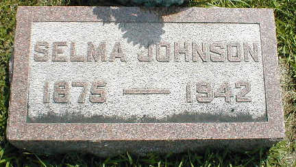 JOHNSON, SELMA - Boone County, Iowa   SELMA JOHNSON
