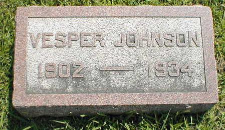 JOHNSON, VESPER - Boone County, Iowa   VESPER JOHNSON