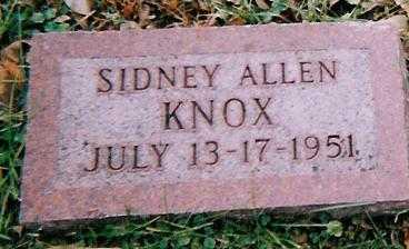 KNOX, SIDNEY ALLEN - Boone County, Iowa | SIDNEY ALLEN KNOX