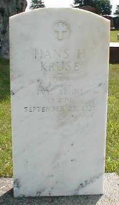 KRUSE, HANS H. - Boone County, Iowa | HANS H. KRUSE
