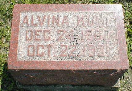 KUHL, ALVINA - Boone County, Iowa   ALVINA KUHL