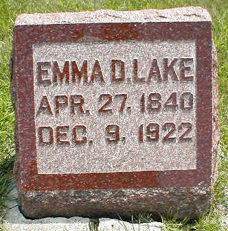 LAKE, EMMA D. - Boone County, Iowa | EMMA D. LAKE