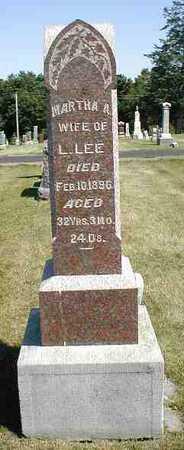 LEE, MARTHA A. - Boone County, Iowa   MARTHA A. LEE
