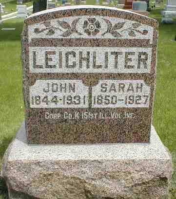 LEICHLITER, JOHN - Boone County, Iowa | JOHN LEICHLITER