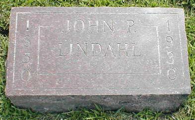 LINDAHL, JOHN P. - Boone County, Iowa   JOHN P. LINDAHL