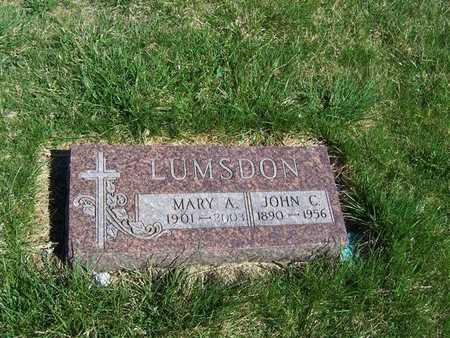 LUMSDON, MARY A. - Boone County, Iowa   MARY A. LUMSDON