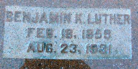 LUTHER, BENJAMIN K. - Boone County, Iowa | BENJAMIN K. LUTHER
