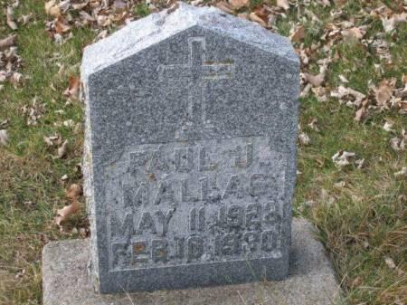 MALLAS, PAUL J. - Boone County, Iowa | PAUL J. MALLAS