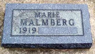 MALMBERG, MARIE - Boone County, Iowa | MARIE MALMBERG