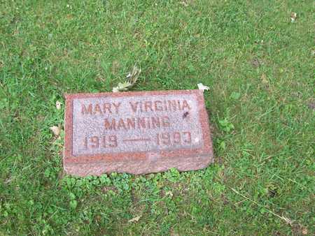 MANNING, MARY VIRGINIA - Boone County, Iowa | MARY VIRGINIA MANNING