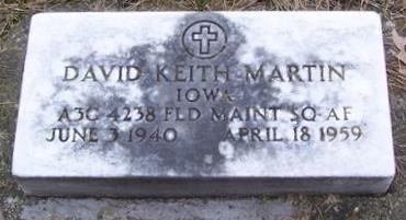 MARTIN, DAVID KEITH - Boone County, Iowa | DAVID KEITH MARTIN